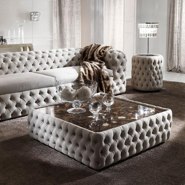 Luxury ottoman coffee table design for a classy living room - Ottoman coffee tables living room ...