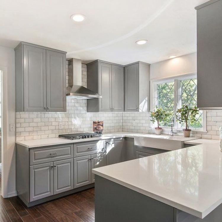 40 Beautiful Grey Kitchen Backsplash Ideas