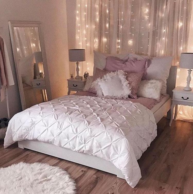 beautiful rose gold bedroom design